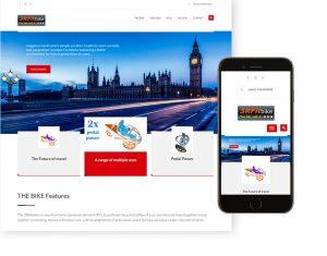 3rfitbike human powered vehicle app and website created using WordPress