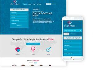 Online Dating site home page desktop & app
