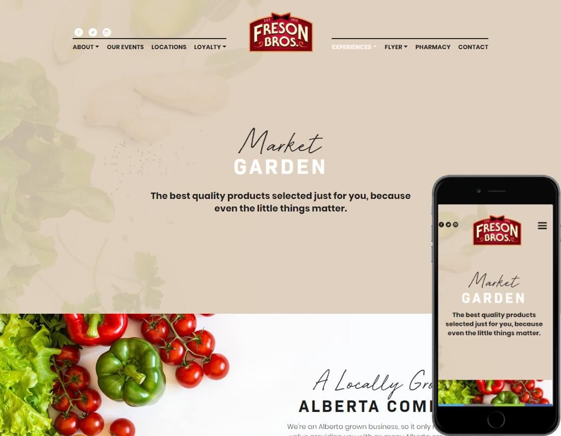 Freson Bros food order website build on wordpress